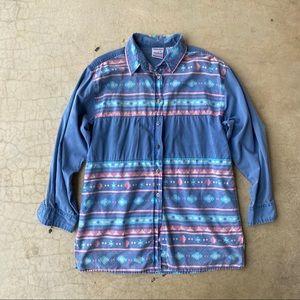 Vintage Nuovo Cotton Southwestern Button Down Top